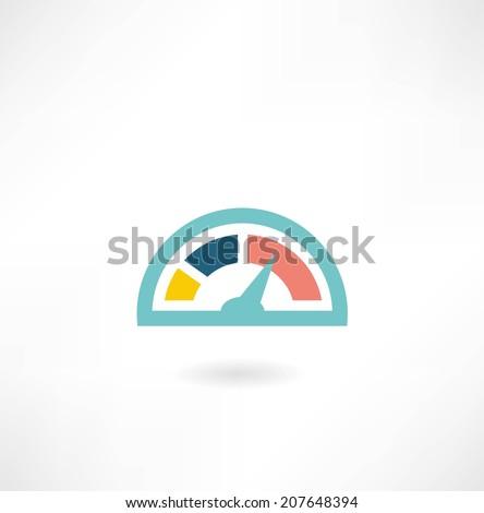 speedometer icon - stock vector