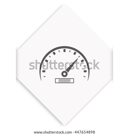 Speedometer icon. - stock vector
