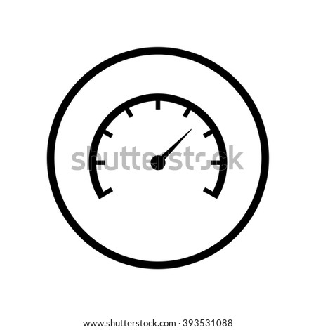 Speedometer Icon in circle . Vector illustration - stock vector