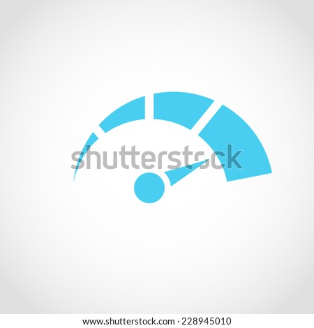 Speedometer Icon Isolated on White Background - stock vector