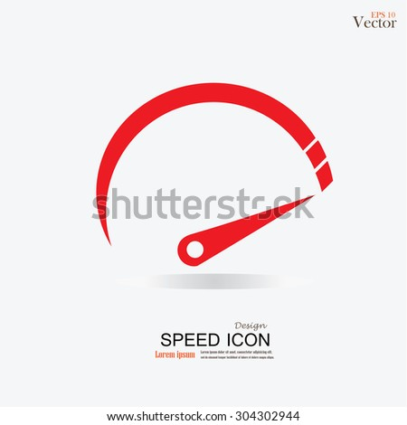 Speedometer icon.speed sign.speed meter.vector illustration.
