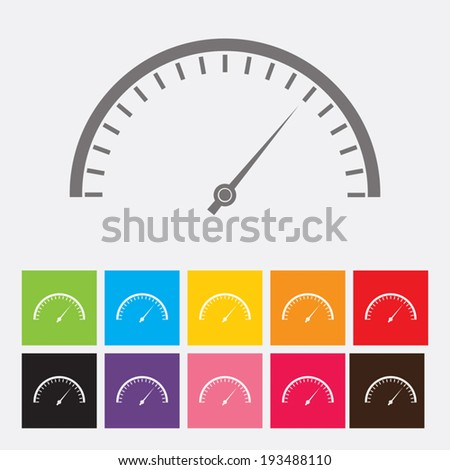 Speedometer icons set - Vector - stock vector