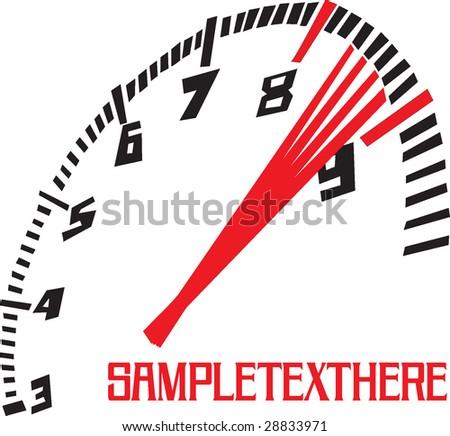 speedometer illustration - stock vector