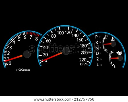 Speedometer Illustration Vector EPS 10. - stock vector
