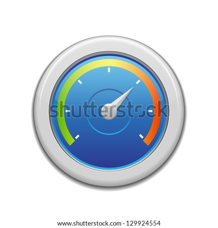 Speedometer in the car isolated - stock vector