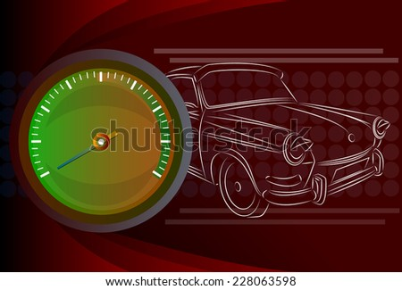 Speedometer needle - stock vector