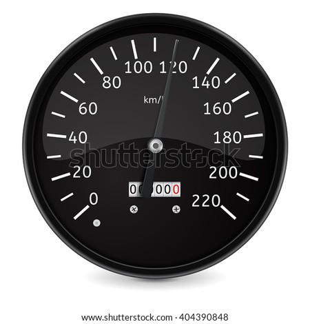 Speedometer. Realistic vector illustration isolated on white background