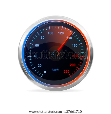 Speedometer, vector. - stock vector