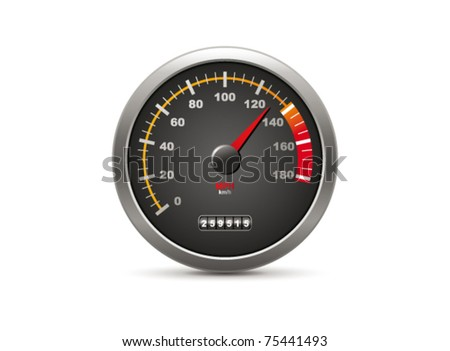 Speedometer. Vector - stock vector