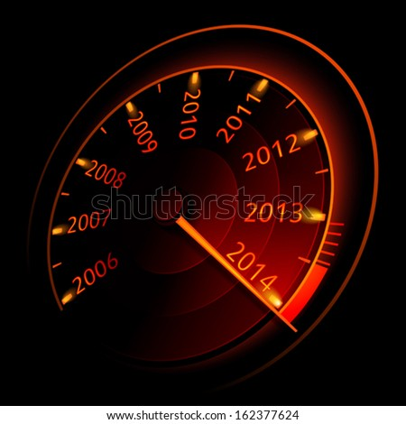 Speedometer 2014. Vector illustration - stock vector