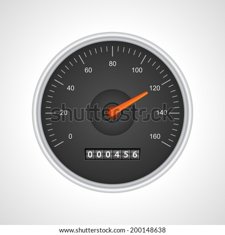 Speedometer vector illustration - stock vector