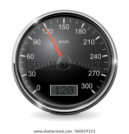 Speedometer vector. Illustration isolated on white background