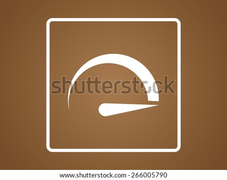 speedometers icon. Flat design style - stock vector