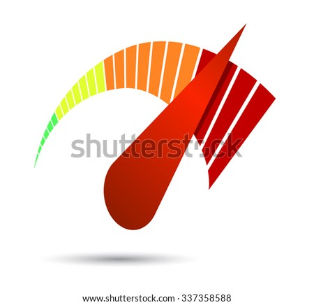 Speedometers or general indicators with needles. - stock vector