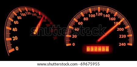 speedometers (vector) - stock vector