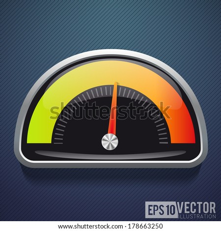 Speedometers . Vector illustration. - stock vector