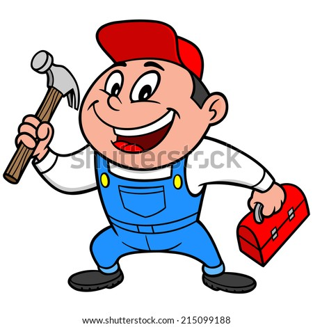 Speedy Handyman - stock vector