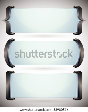 Spelling brackets for your text, vector banners. - stock vector