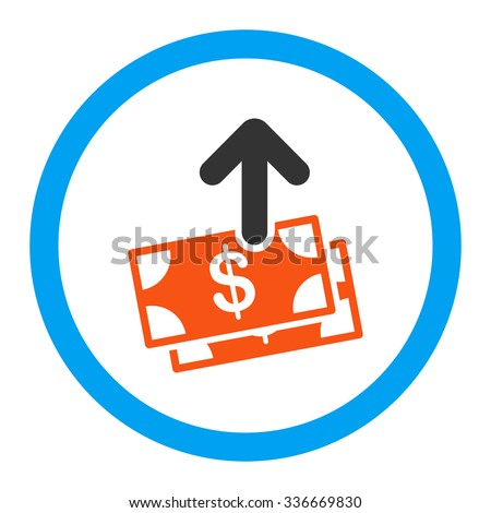 Spend Money vector icon. Style is flat rounded symbol, bright colors, rounded angles, white background. - stock vector