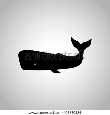 Sperm whale icon - stock vector