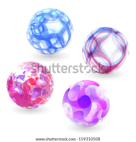 Sphere. Abstract vector illustration.  - stock vector