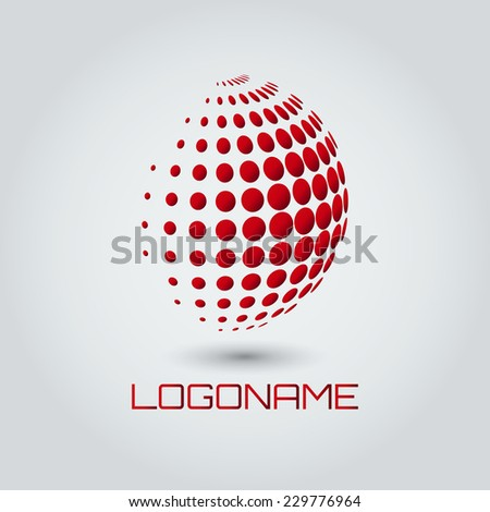 Sphere abstract vector logo design template. Business Technology circle icon. - stock vector