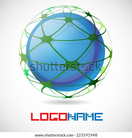 Sphere Abstract Vector Logo Design Template. Business Technology Circle Icon . New Ecology Creative Idea .
