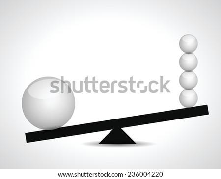 sphere balance illustration design over a white background - stock vector