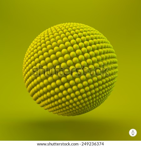 Sphere. 3d vector template. Abstract illustration.  - stock vector