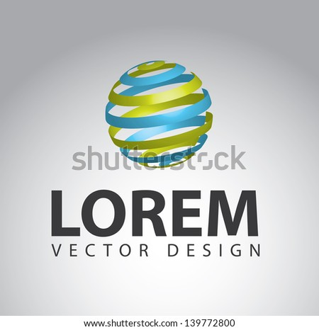 sphere design over gray background vector illustration - stock vector