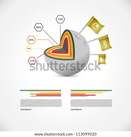 Sphere illustration with flags - stock vector