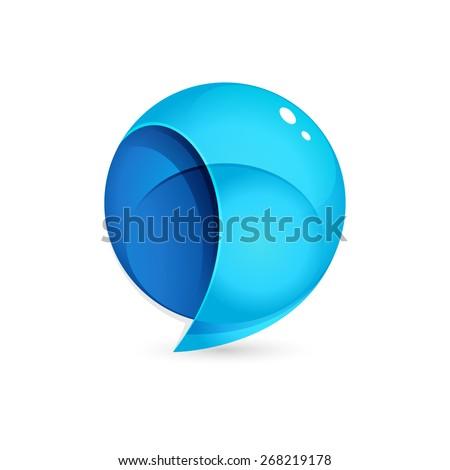 Sphere Speech Bubble logo, vector design template element  - stock vector