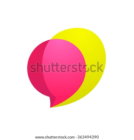 Sphere speech bubble logo. Vector design template elements for your application or corporate identity.