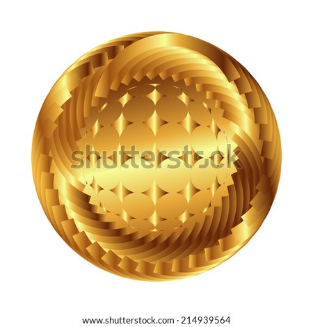 Sphere vector symbol. Abstract globe with star, business concept - stock vector