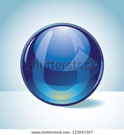 Spherical Icon Symbol Alphabet Letter U