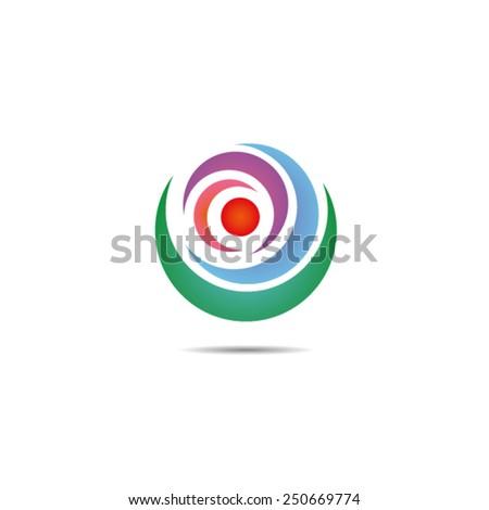 Spherical Logo Element - stock vector