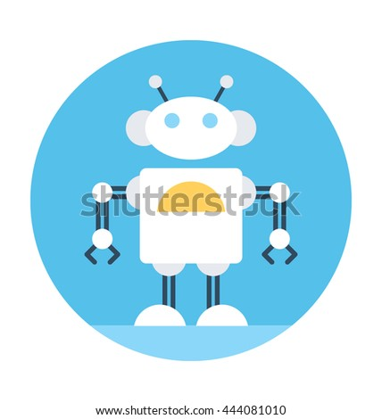 Spherical Robot Vector Icon