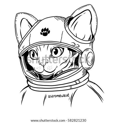 sphynx cat in a spacesuit astronaut