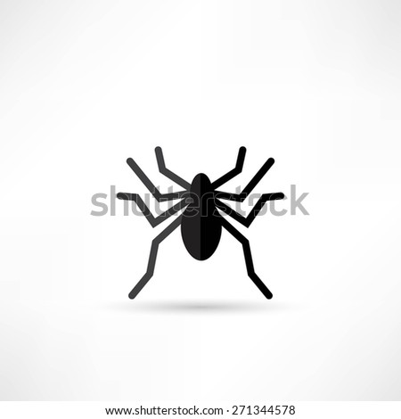 Spider icon - stock vector