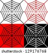 Spider's web with reflection - stock vector