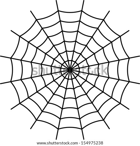 Web Spider Vector Spider Web Black Vector