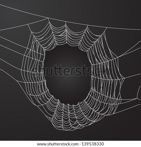 Spider web frame - stock vector