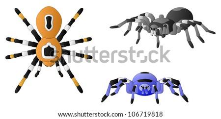 Spiders - stock vector