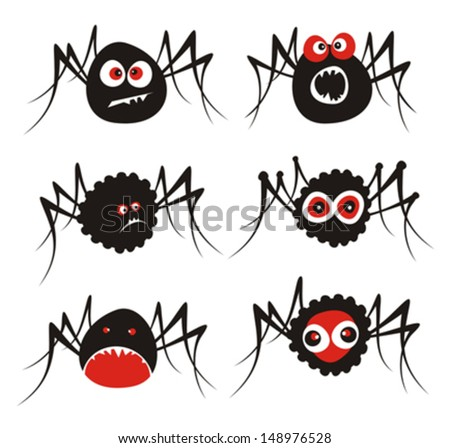 Spiders. Vector illustration.  - stock vector