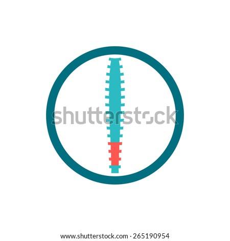 Spine diagnostic center logo - stock vector