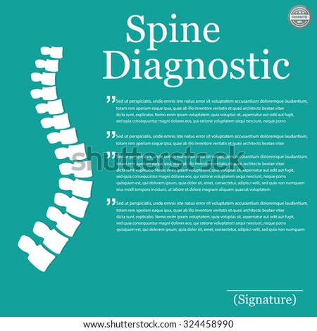 Spine Diagnostic. Vector illustration - stock vector