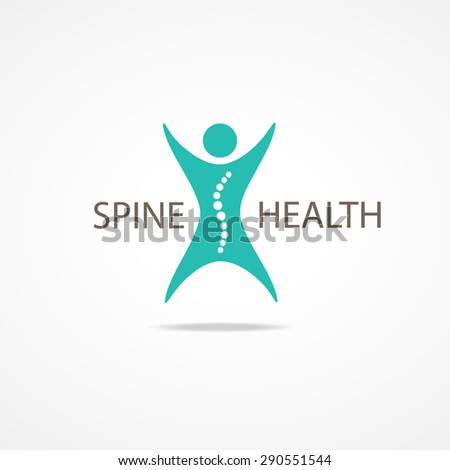 Spine health symbol. - stock vector