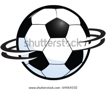 Spinning football - stock vector