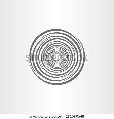 spiral abstract circle tornado background design - stock vector