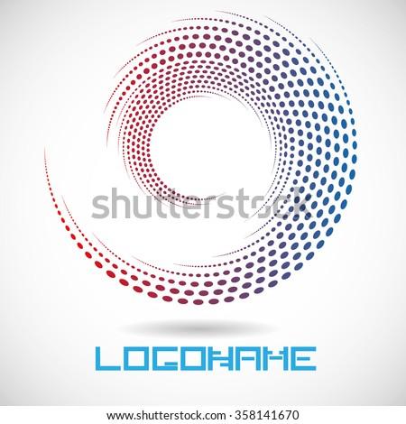 Spiral Dots . Vector Spiral . Circle Spiral. Vector Spiral Illustration . Spiral Halftone . Spiral Logo . Icon Spiral . - stock vector